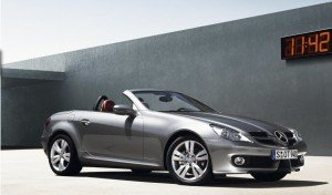 Mercedes Benz SLK owned by Artem Kuznetsov's wife